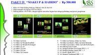 """PAKET IV """"MAKEUP & HAIRDO"""" : Rp 500.000  Berisi 30 Video bidang Makeup, Makeup Artis & Hair Do Dalam delapan (8) keping DVD for Player, Packing dalam 4 DVD […]"""