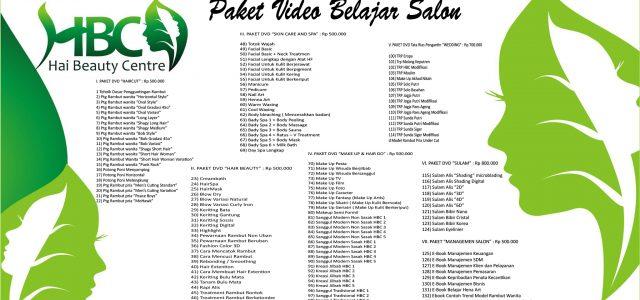 """VIDEO / DVD TUTORIAL BELAJAR SULAM ALIS & SALON KECANTIKAN – Paket1,5jt """"EDISI BARU & TERLENGKAP"""" (Semua Video Pembelajaran Adalah Asli Produksi Sendiri) Hai Salon & Lembaga Kursus Kecantikan Resmi […]"""