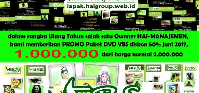 dalam rangka Ulang Tahun salah satu Ownner HAI-MANAJEMEN, kami memberikanPROMO Paket DVD/USB Video Belajar Salon, hanya di Bulan Juni 2017 hanya 1.000.000 dari harga normal 2.000.000   PRODUK DVD […]